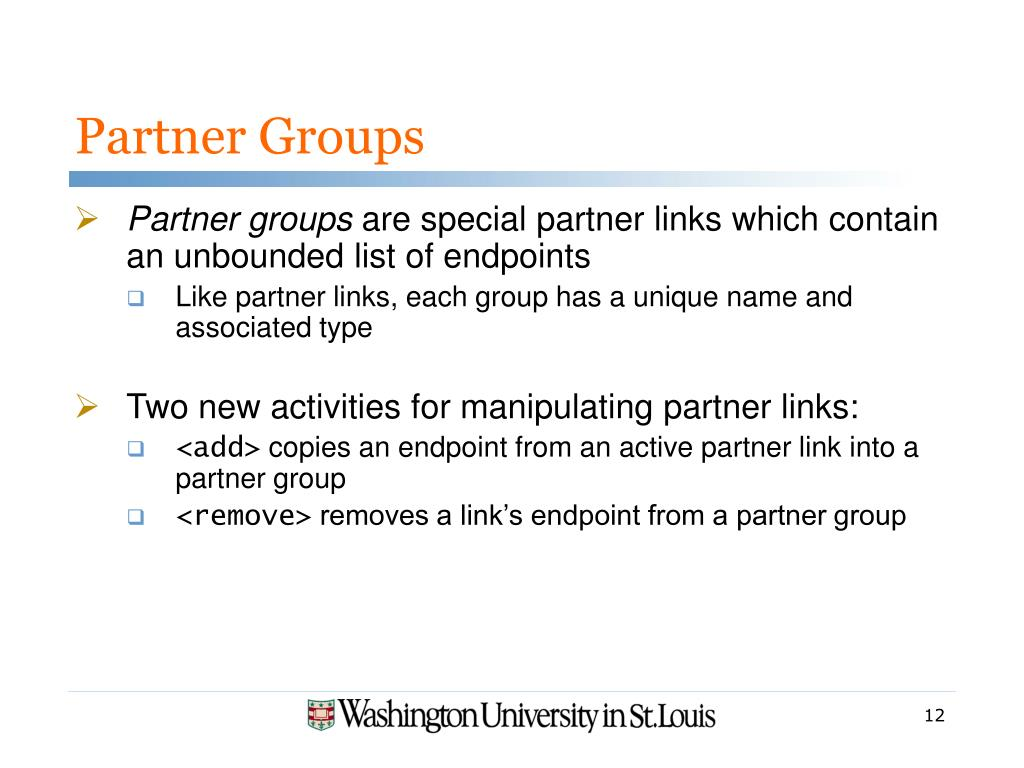 Partner Groups