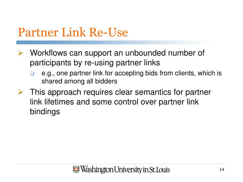 Partner Link Re-Use