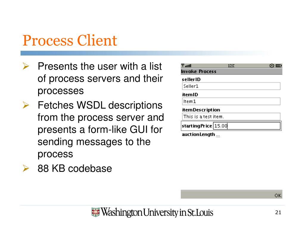 Process Client