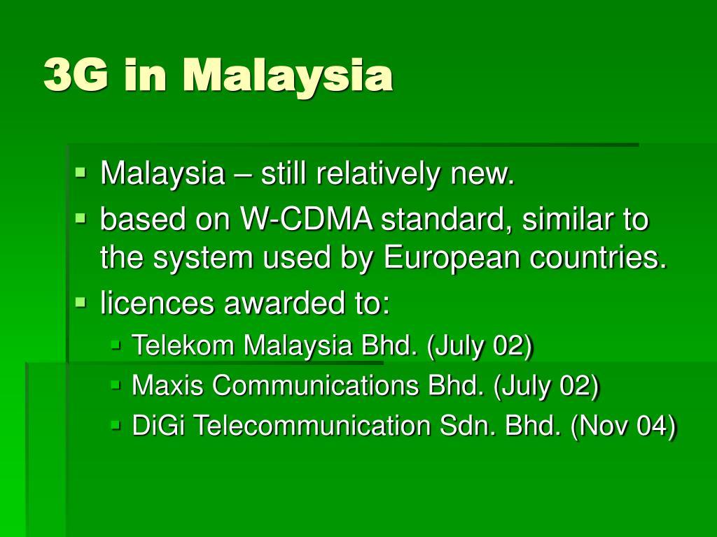 3G in Malaysia