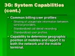 3g system capabilities cont