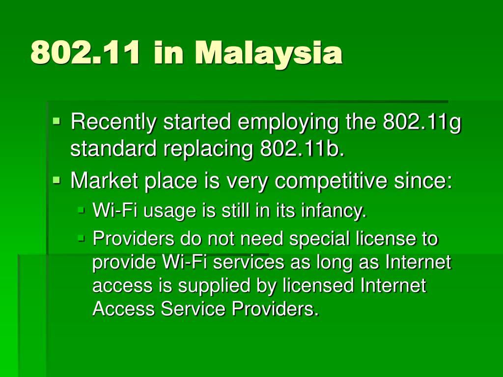 802.11 in Malaysia