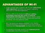 advantages of wi fi