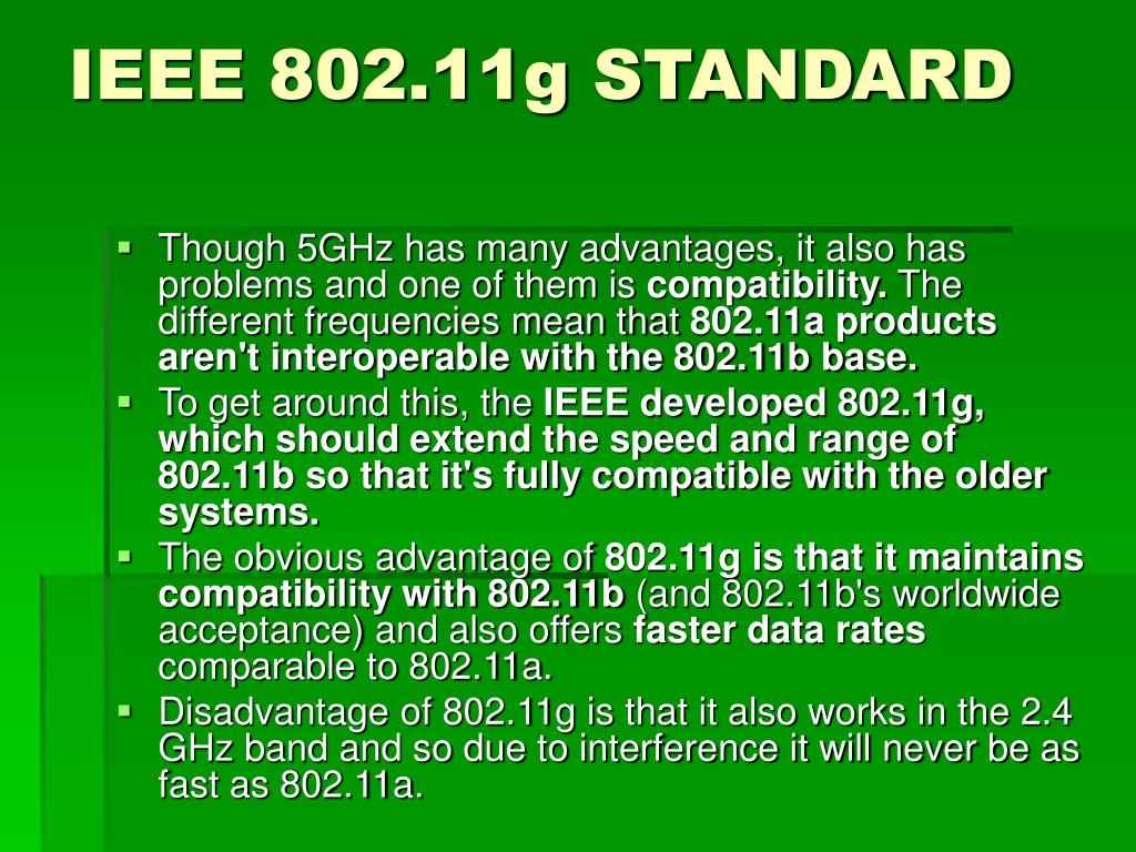 IEEE 802.11g STANDARD