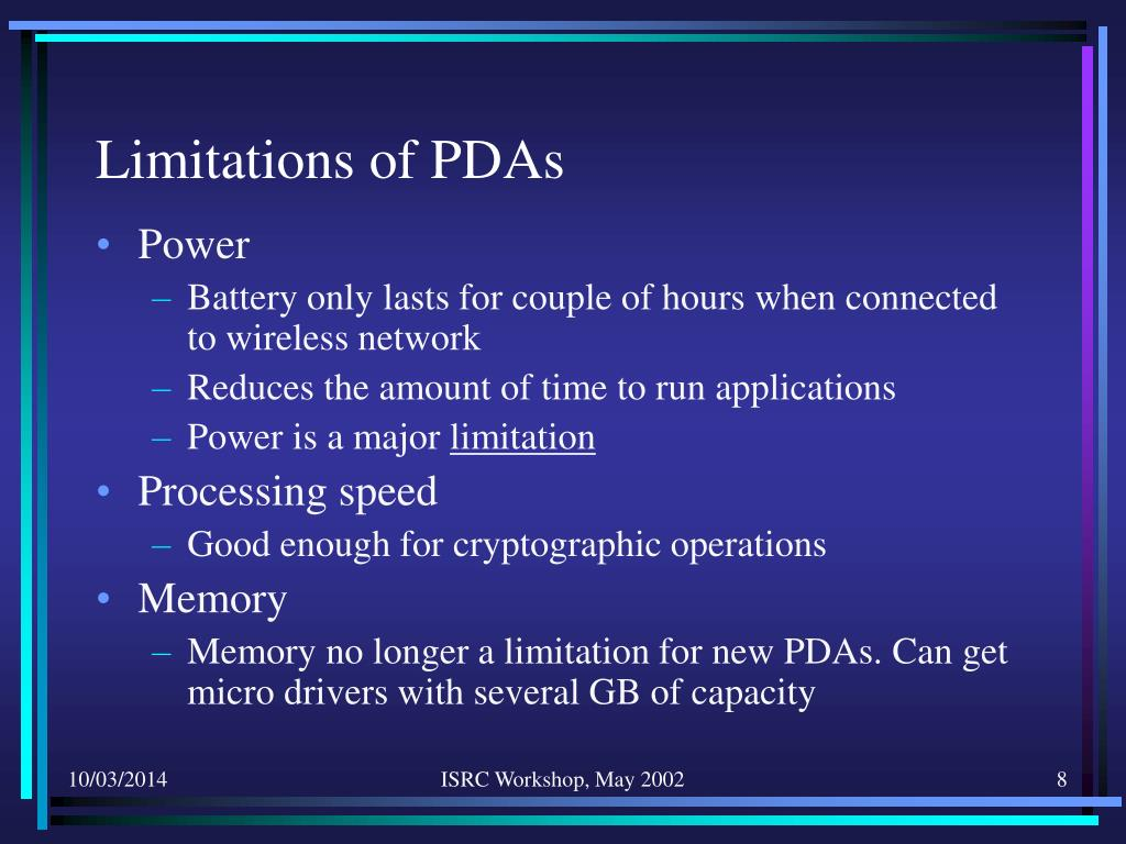 Limitations of PDAs