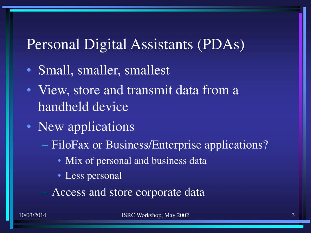 Personal Digital Assistants (PDAs)
