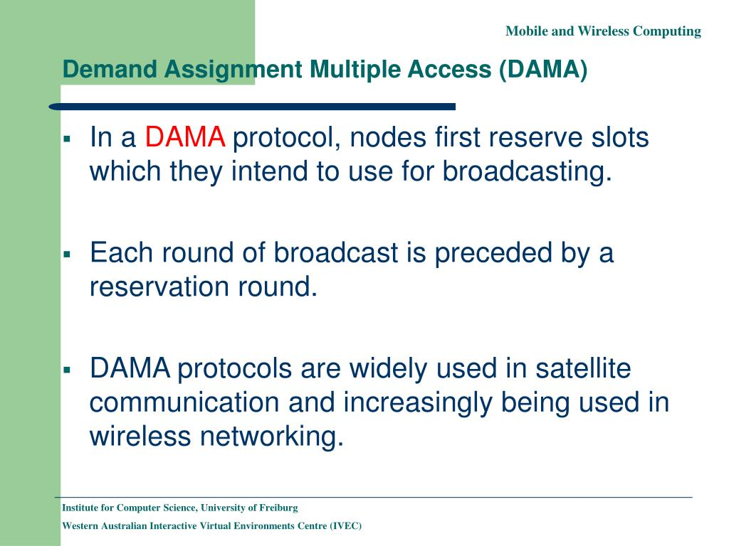 Demand Assignment Multiple Access (DAMA)