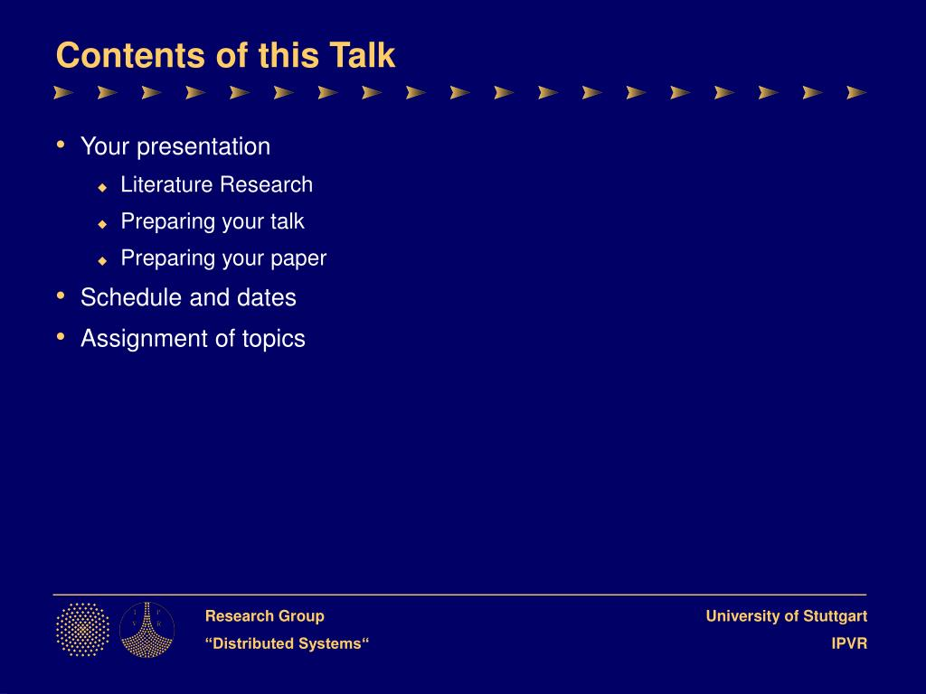 Contents of this Talk