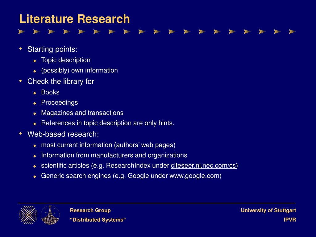 Literature Research