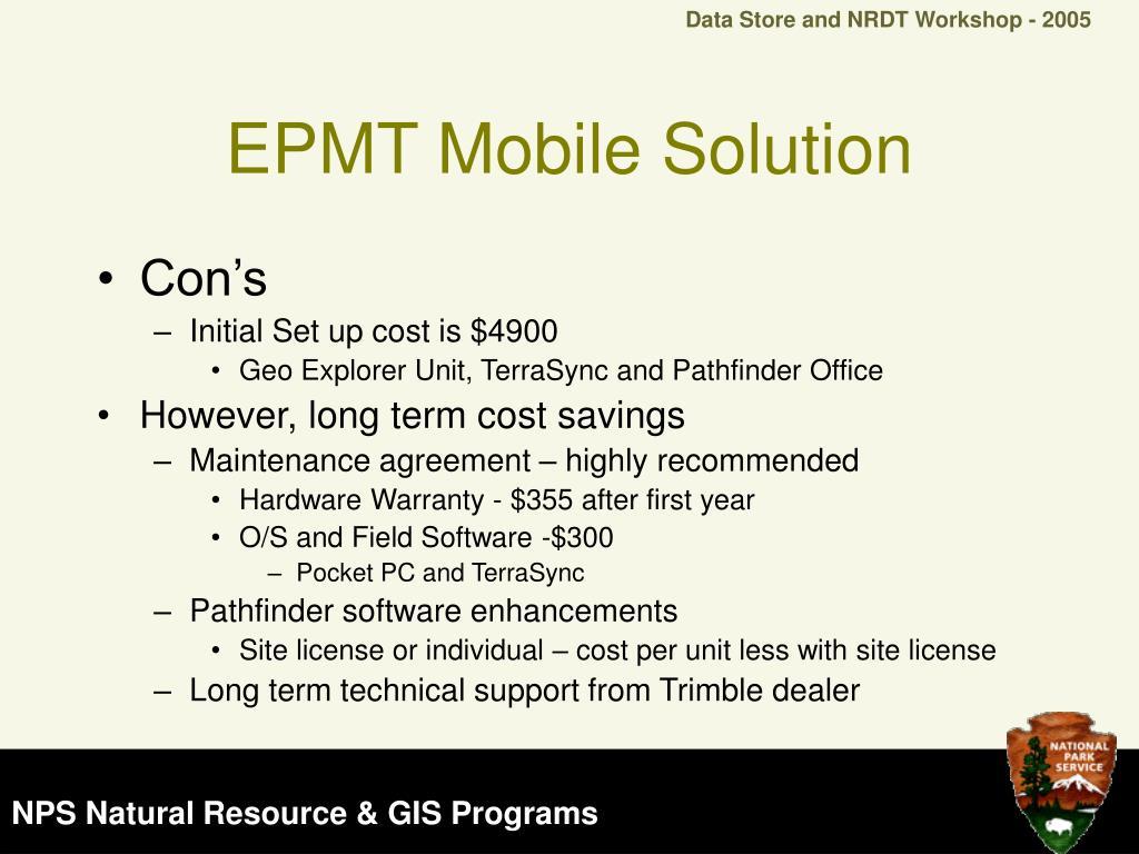 EPMT Mobile Solution