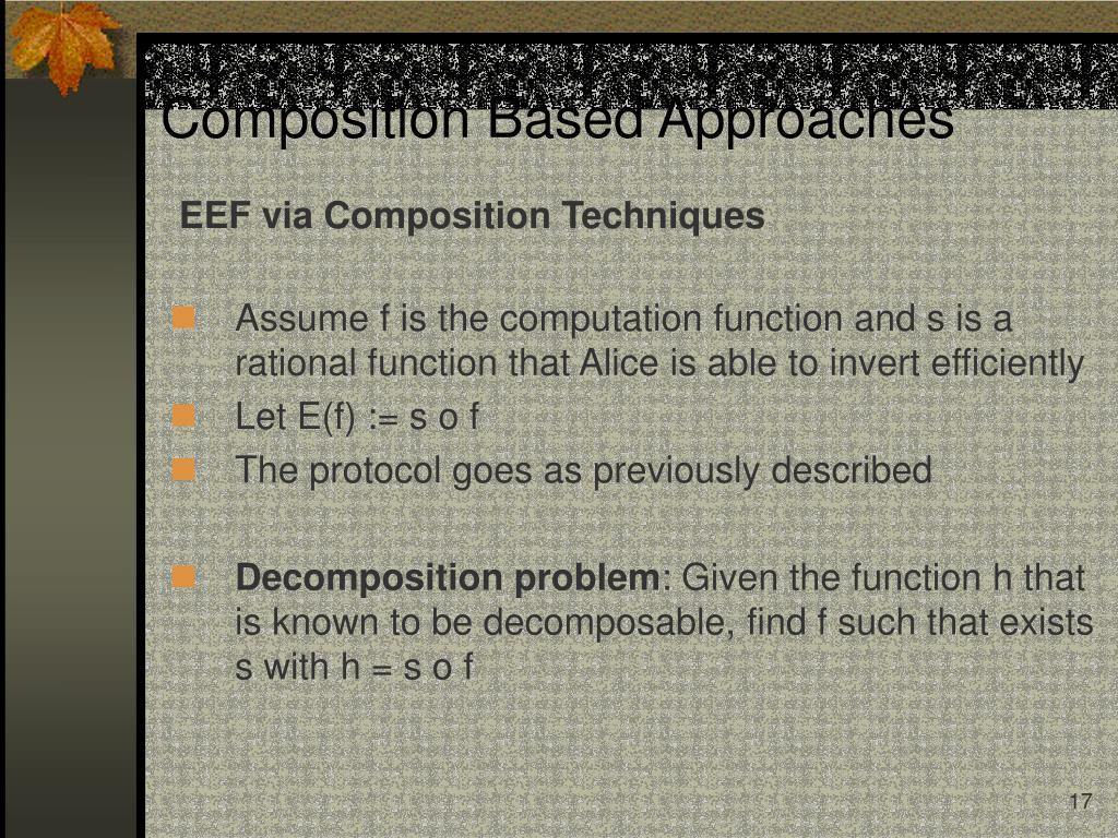 EEF via Composition Techniques