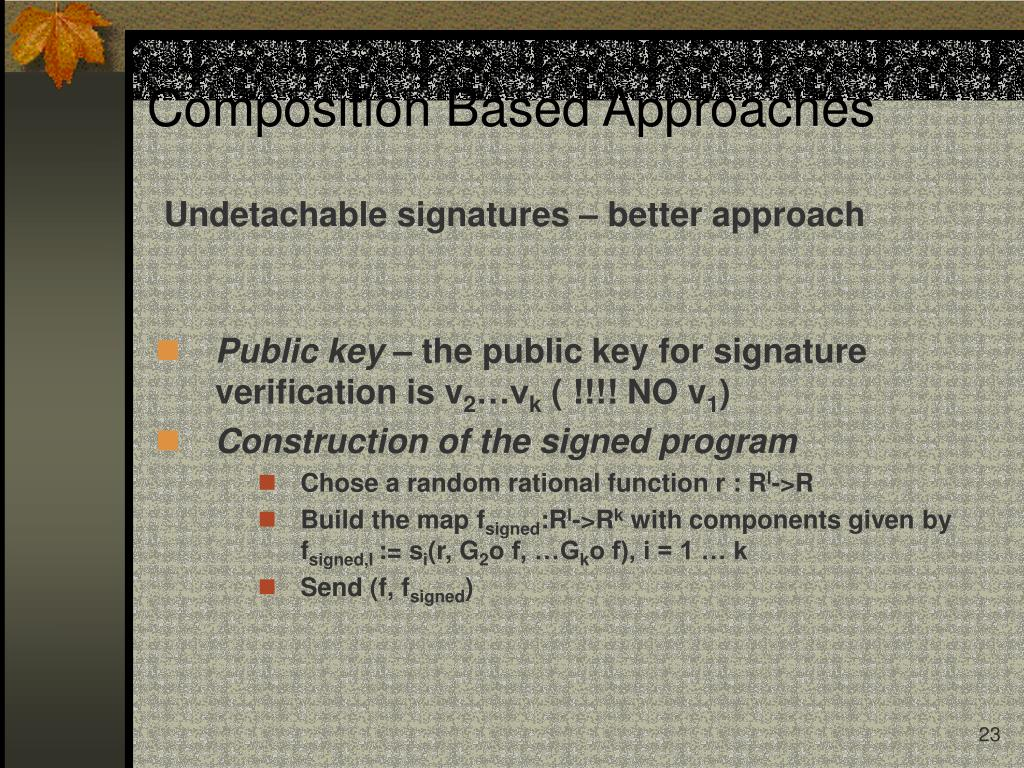 Undetachable signatures – better approach