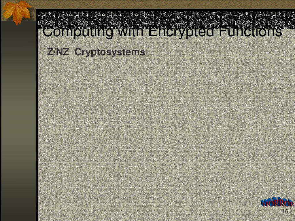Z/NZ  Cryptosystems