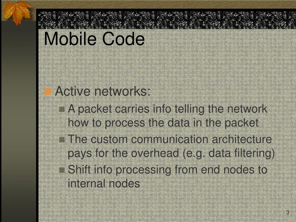 Mobile Code