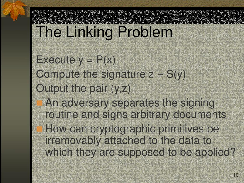The Linking Problem