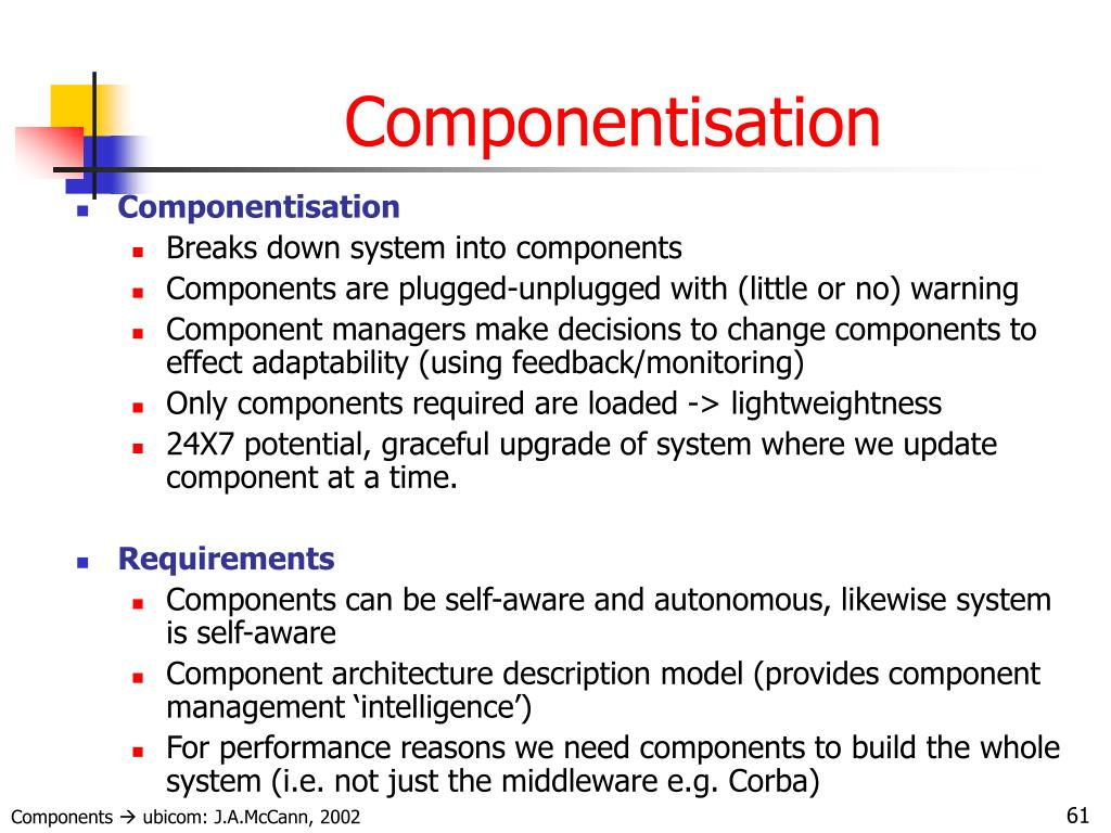 Componentisation