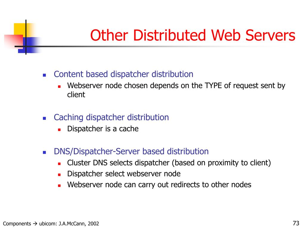 Other Distributed Web Servers