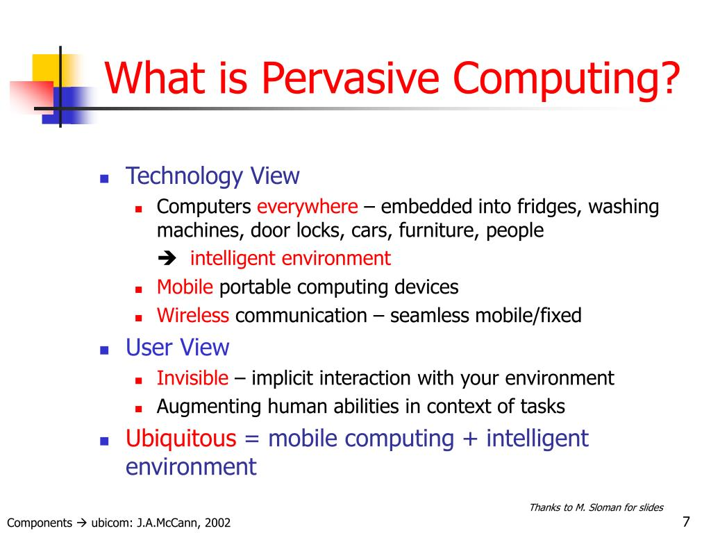What is Pervasive Computing?