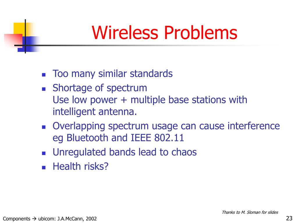 Wireless Problems