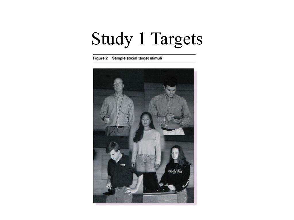 Study 1 Targets
