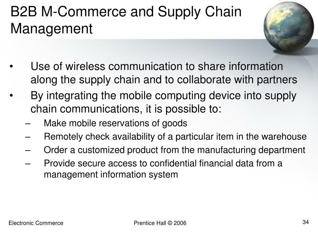 B2B M-Commerce and Supply Chain Management