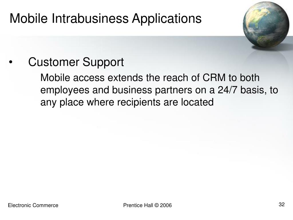 Mobile Intrabusiness Applications