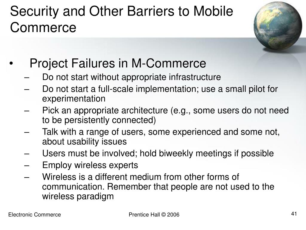 Security and Other Barriers to Mobile Commerce
