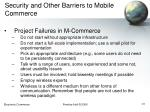 security and other barriers to mobile commerce41