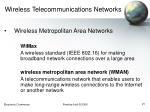 wireless telecommunications networks21