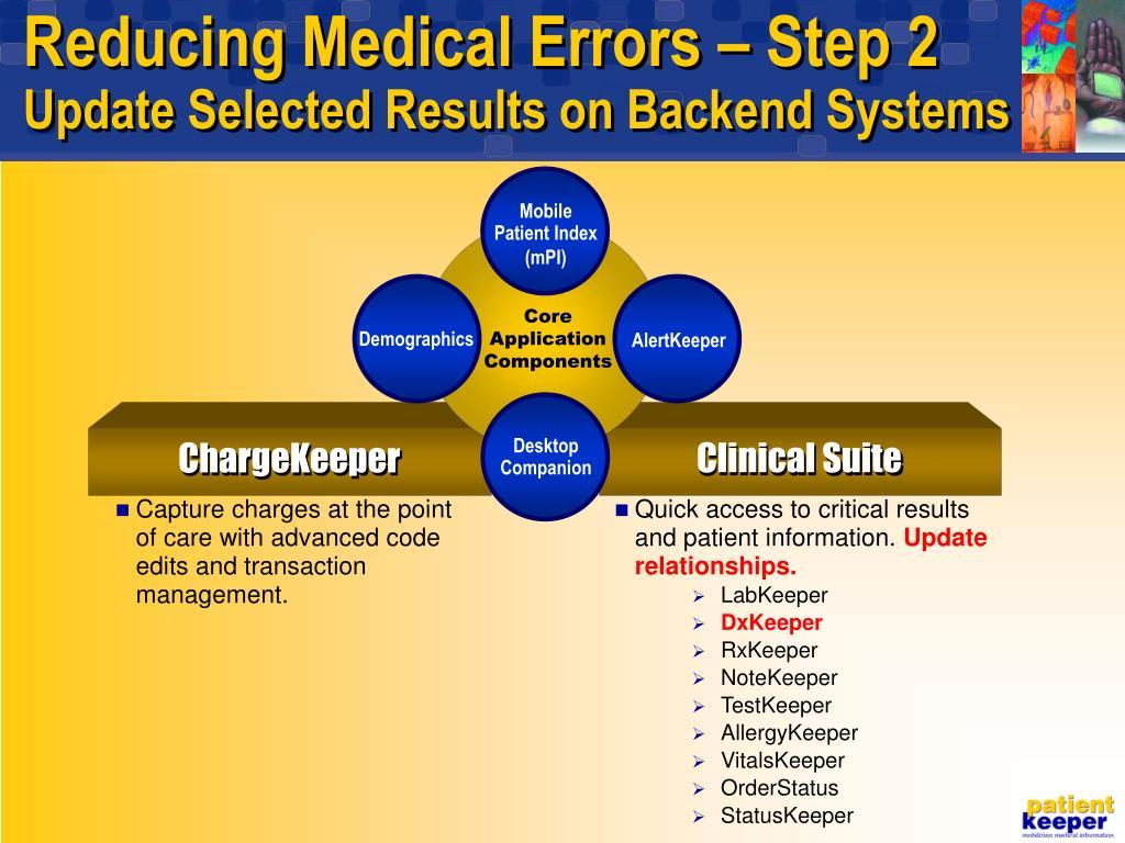 Reducing Medical Errors – Step 2