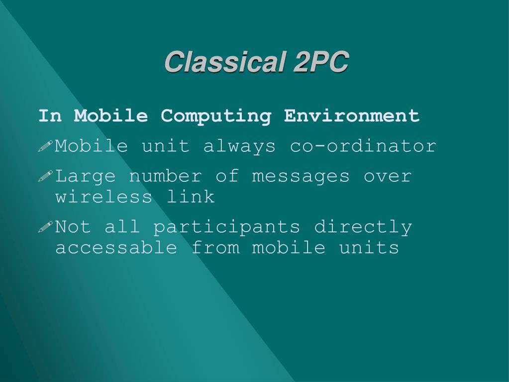 Classical 2PC