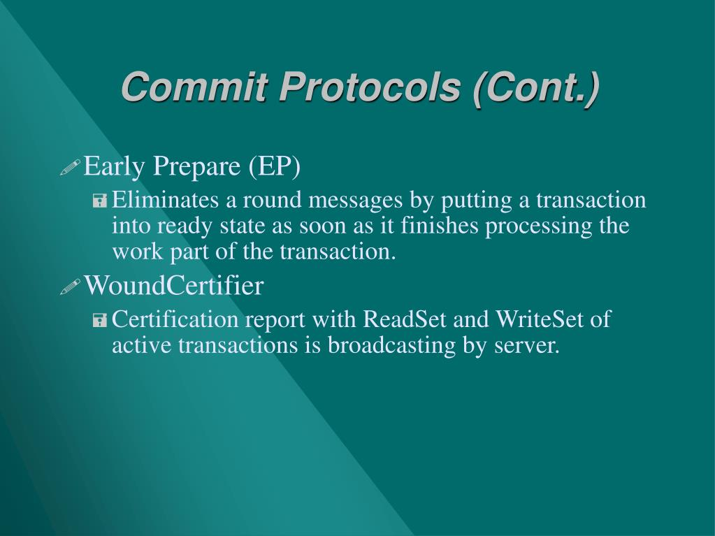 Commit Protocols (Cont.)