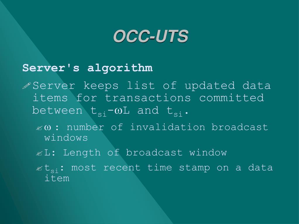 OCC-UTS