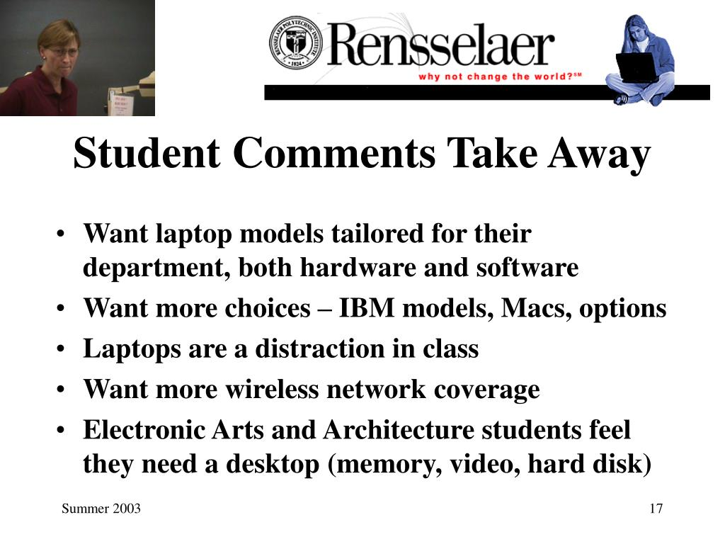 Student Comments Take Away