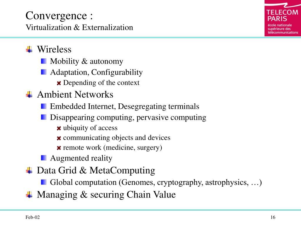 Convergence :