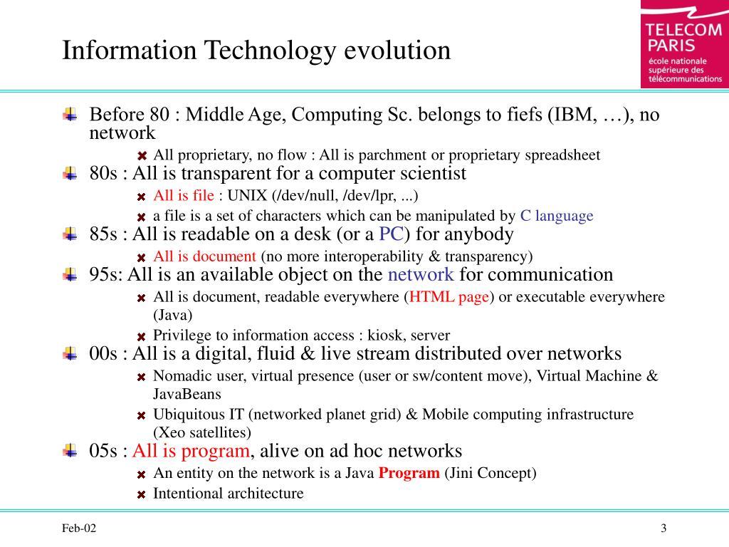 Information Technology evolution