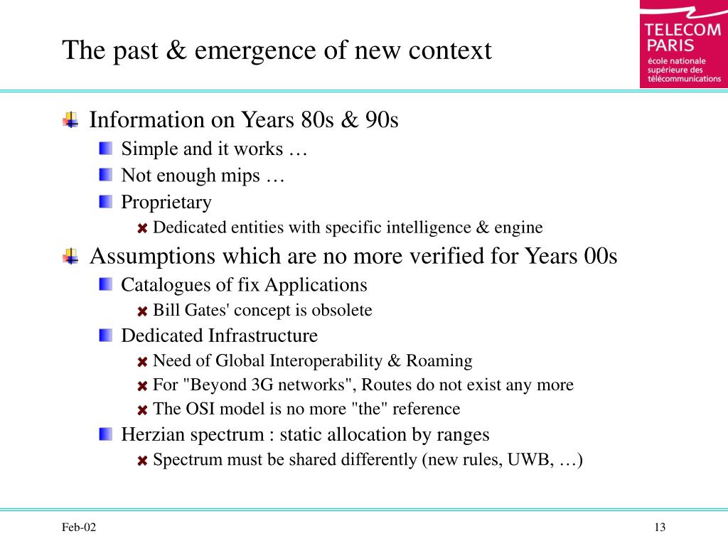 The past & emergence of new context