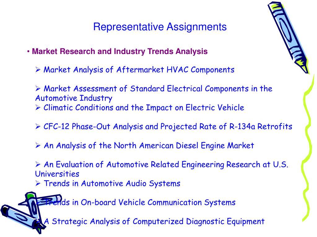 Representative Assignments