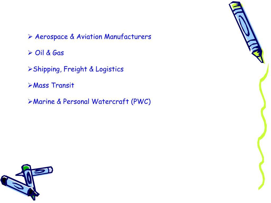 Aerospace & Aviation Manufacturers