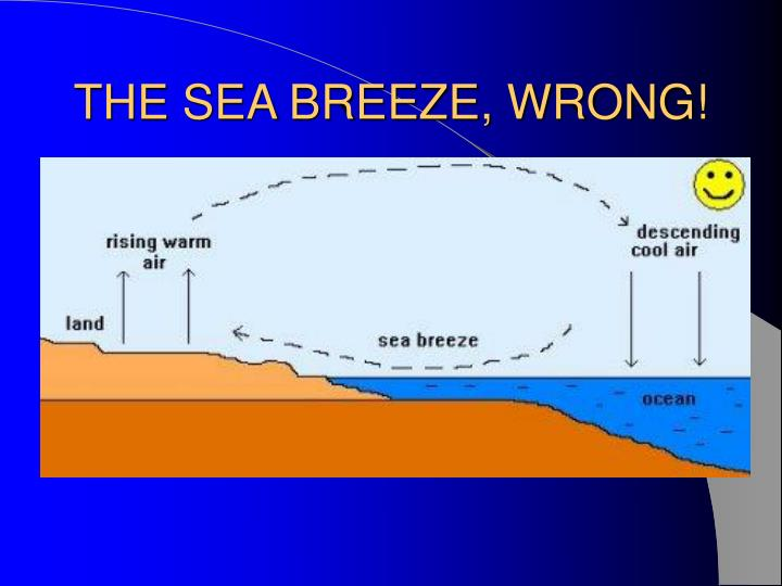 THE SEA BREEZE, WRONG!