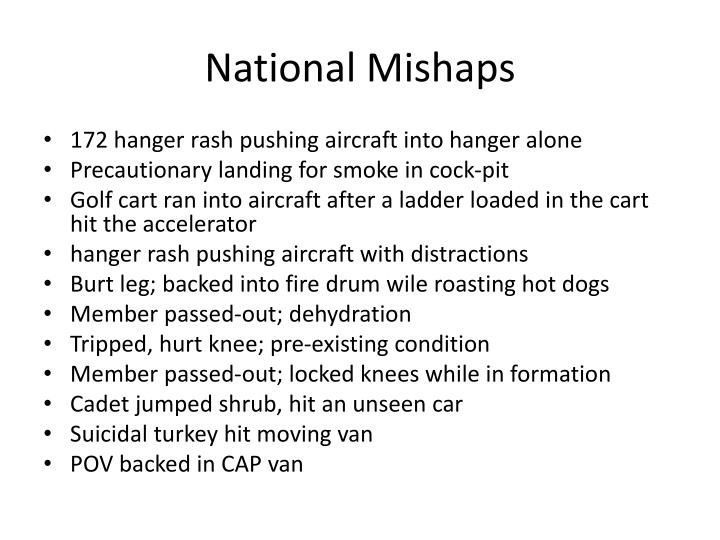 National Mishaps