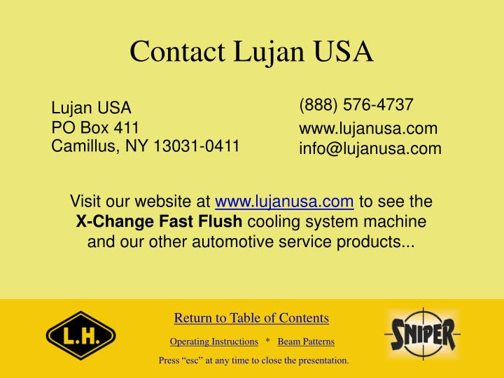 Contact Lujan USA