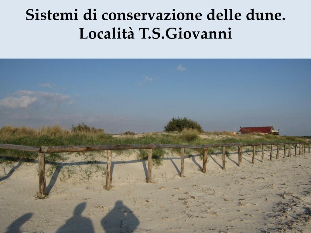 Sistemi di conservazione delle dune.