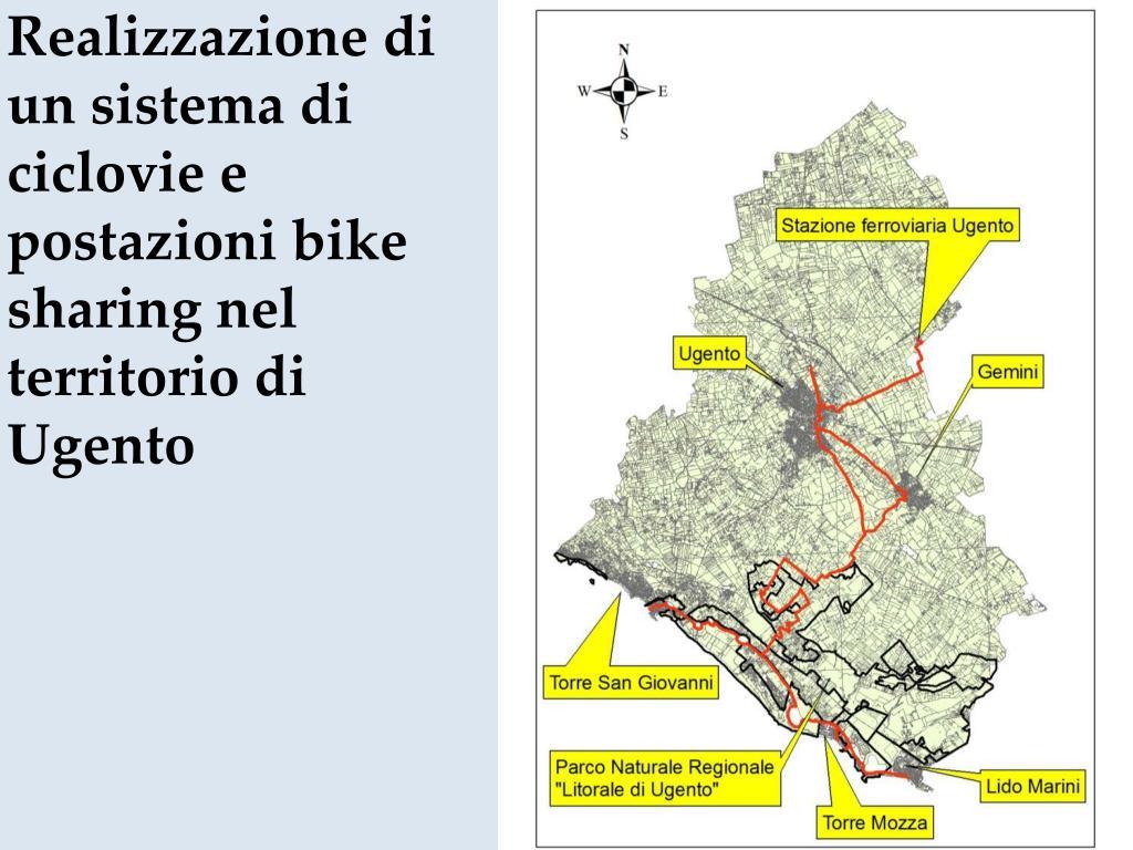 Realizzazione di un sistema di ciclovie e postazioni bike sharing nel territorio di Ugento