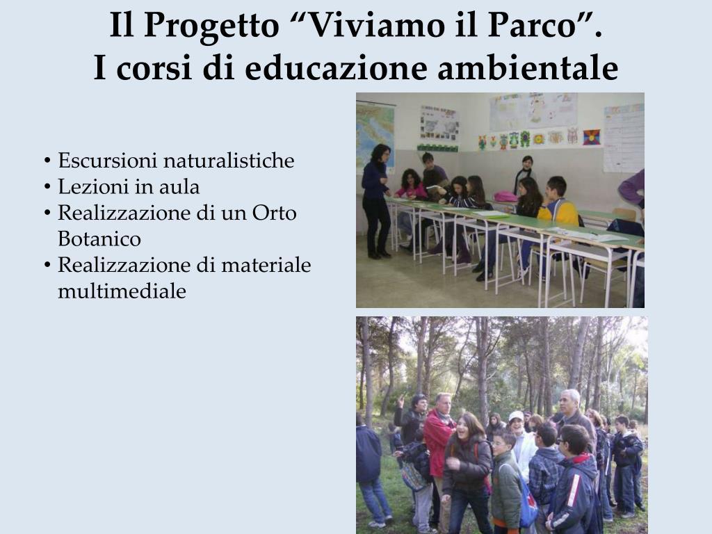 """Il Progetto """"Viviamo il Parco""""."""
