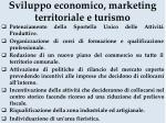 sviluppo economico marketing territoriale e turismo