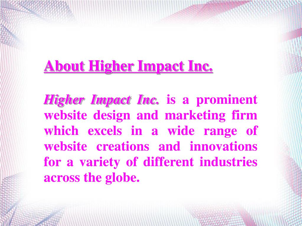 About Higher Impact Inc.