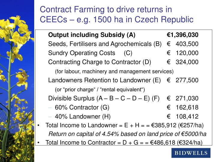 Output including Subsidy (A)		€1,396,030