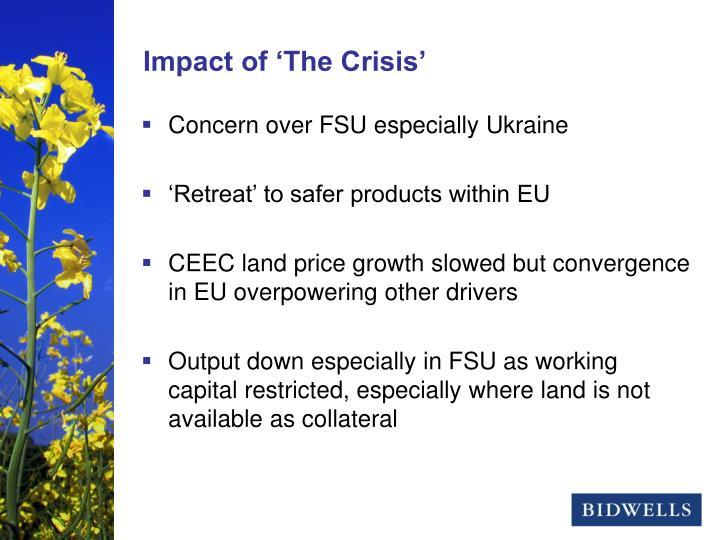 Concern over FSU especially Ukraine