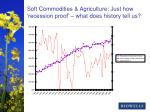 soft commodities agriculture just how recession proof what does history tell us